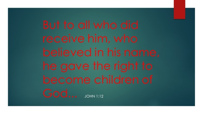 But to all who did receive him,